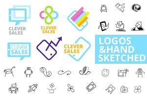 Sketches for logos or icons
