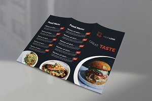 Restaurant Food Menu Tri Fold