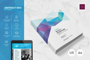 Abstract Polygon Brochure