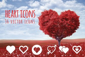 HEART - 36 vector icons