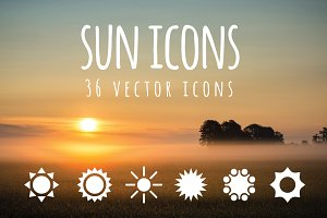 SUN - 36 vector icons
