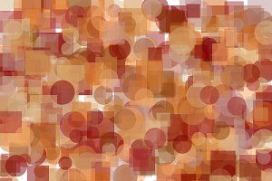 Abstract brown circles squares illustration background