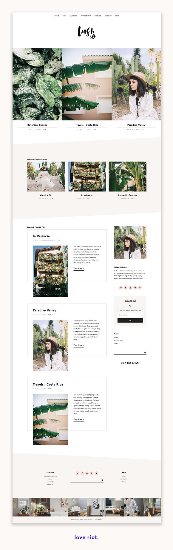 Lush A Blog Shop WordPress Theme