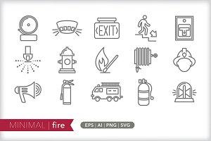 Minimal fire icons
