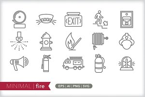 Minimal fire icons
