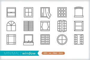 Minimal window icons
