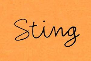 Sting - Handwritten Script Font