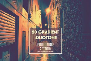 Gradient & duotone Photoshop actions