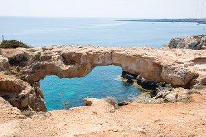 Stone bridge in the park of Cavo Greco