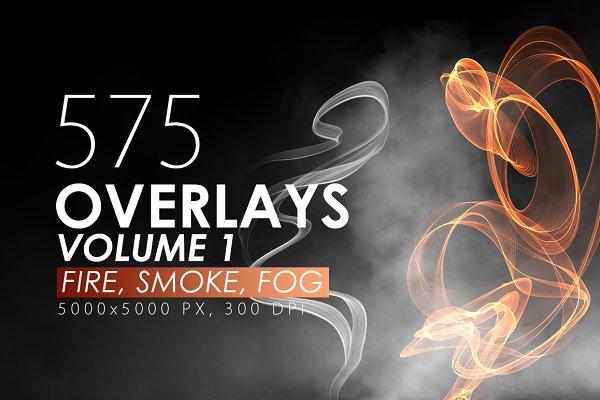 575 Fire, Smoke, Fog Overlays