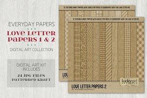 Love Letter Papers 1 and 2