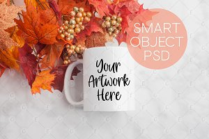 Fall Leaves Mug Mockup (5326)