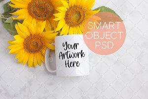 Sunflower Mug Mockup (5386)