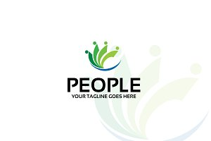people – Logo Template