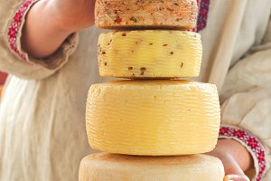 a variety of crafted cheese photos