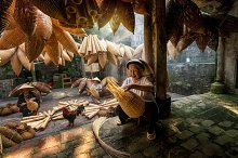 Vietnam, traditional artist concept by Thananit Suntiviriyanon in Industrial