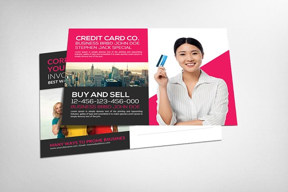 Debit Card or Credit Card Seller in Card Templates
