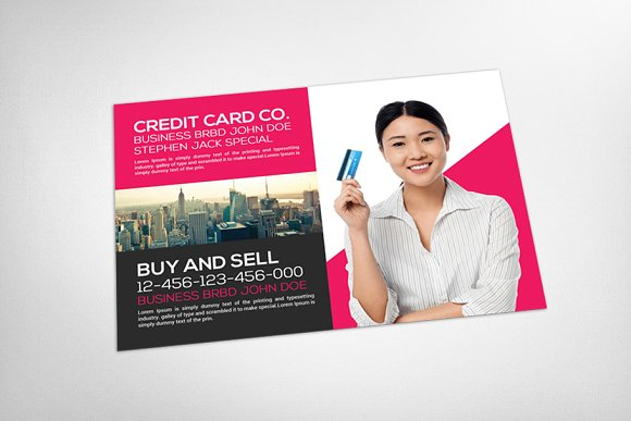 Debit Card or Credit Card Seller in Card Templates - product preview 2