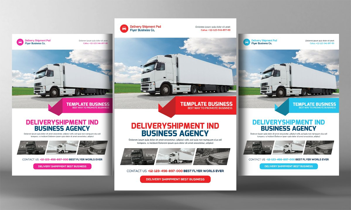 Delivery And Shipment Flyer Template Flyer Templates Creative Market