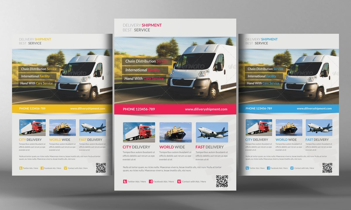 Delivery Shipment Psd Flyer Template ~ Flyer Templates ~ Creative Market