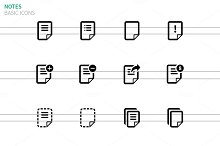 Notepad Document file and Note icons
