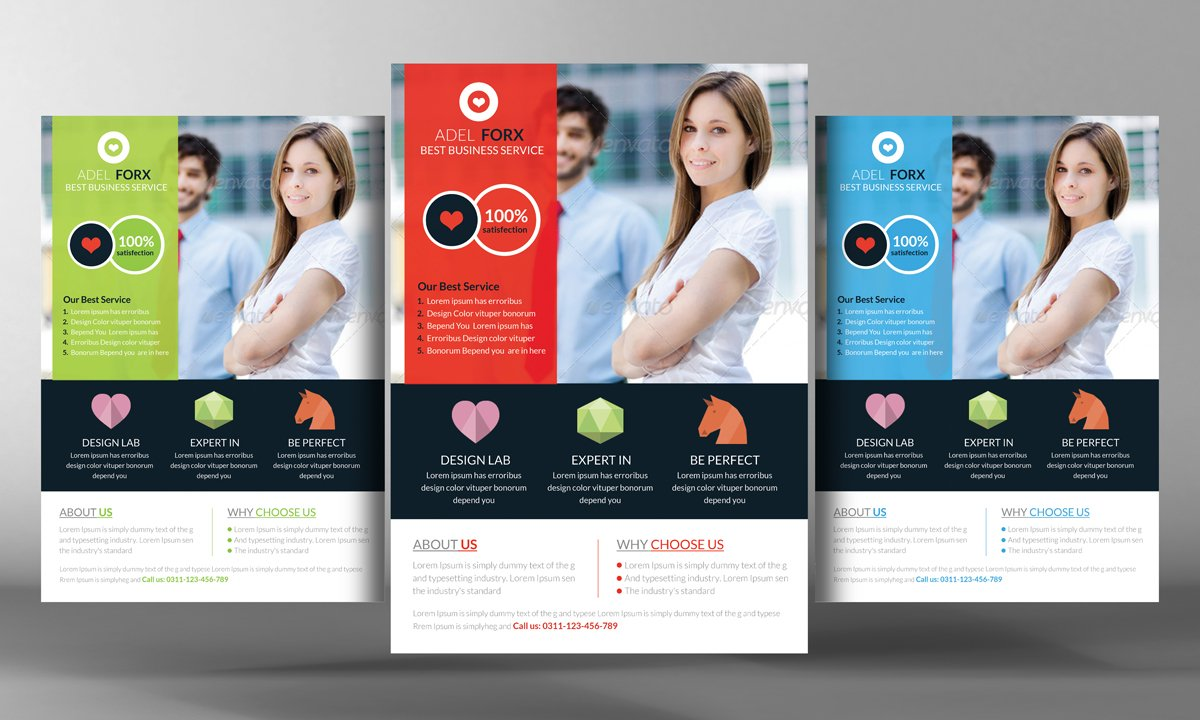 Global business flyer template flyer templates creative market wajeb Images