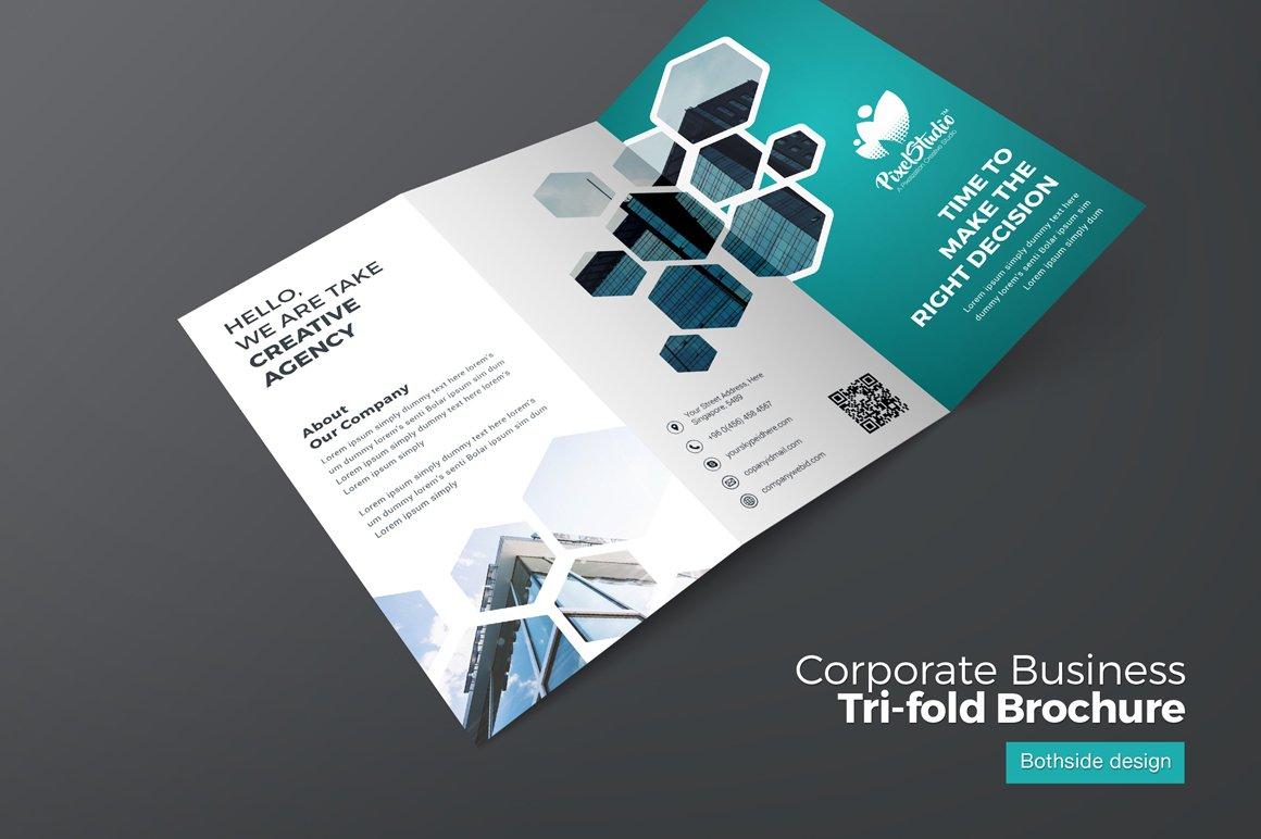 corporate business trifold brochure brochure templates creative