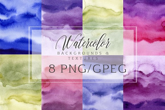Watercolor abstract backgrounds in Textures