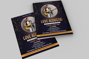 Acoustic Music Flyer / Poster V744