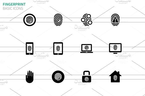 Fingerprint icons on white