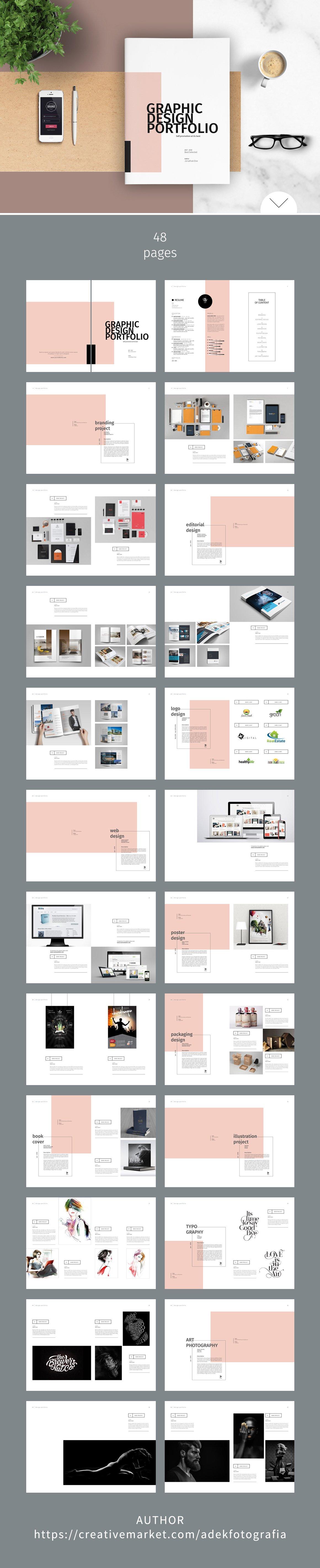 Character Design Portfolio Presentation : Graphic design portfolio template brochure templates