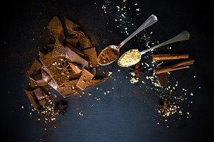 Tasty chocolate concept