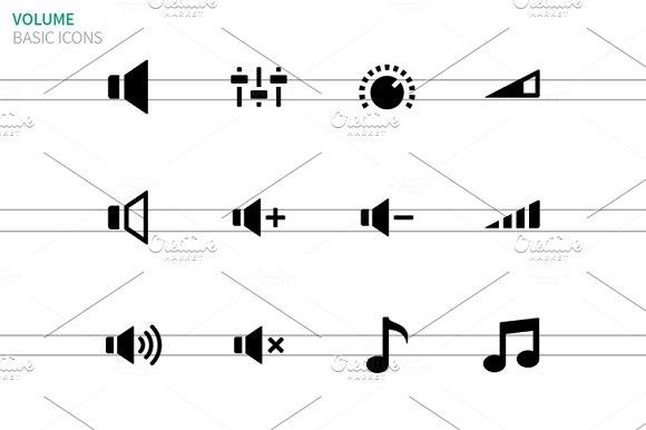 Speaker icons on white