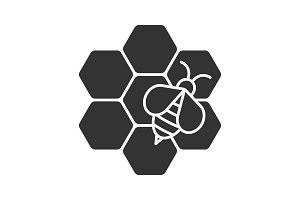 Beekeeping glyph icon