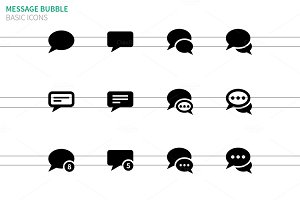 Message bubble icons on white