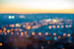 city blurring lights abstract bokeh