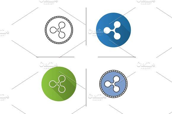 Ripple coin icon