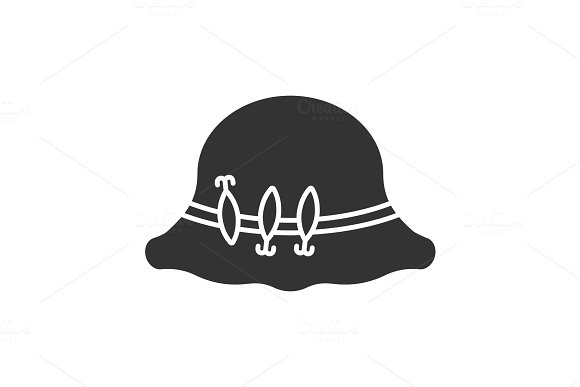 Fisherman Hat With Hooks Glyph Icon