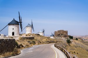 Beautiful and old windmills