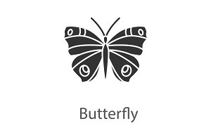 Butterfly glyph icon