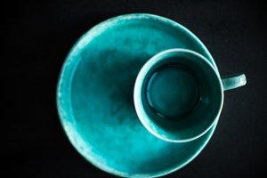 Rustic ceramic cup