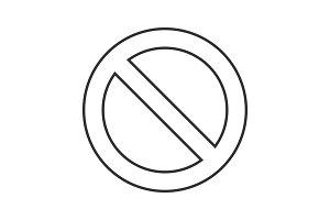 Prohibition circle linear icon