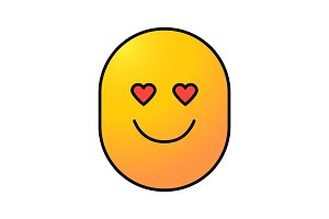 In love smile color icon