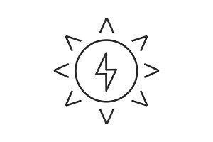 Solar energy linear icon