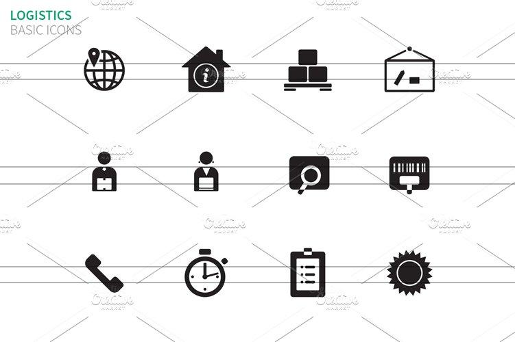 Logistics icons on white ~ Icons ~ Creative Market