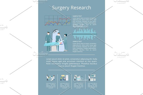 Surgery Research Visualization Vector Illustration