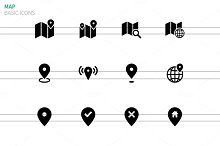 GPS, Navigation and Map icons