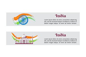 Independence Day India Posters with National Flag