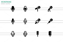 Microphone icons on white