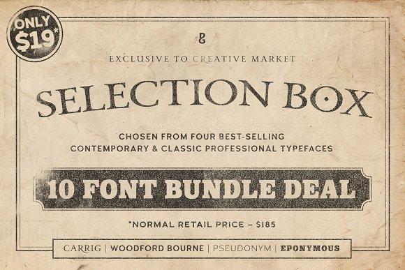 Selection Box 10 Font Bundle